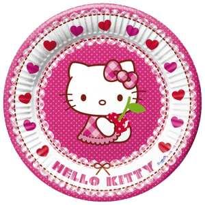 Assiette carton Hello Kitty