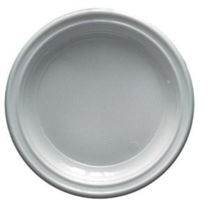 Assiette plastique ronde blanche 22cm