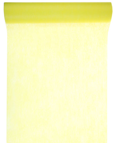 Chemin table intissé jaune