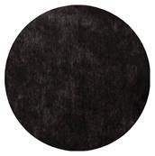 Set table rond intissé noir