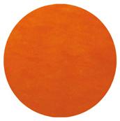 Set table rond intissé orange