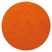 Set table rond intissé orange