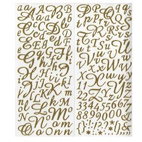 Lettre manuscrite autocollante or