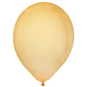 Ballon uni métallisé or