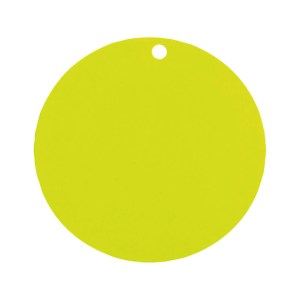 Étiquette rond vert