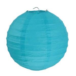 Lanterne uni turquoise