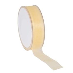 Ruban 25 mm organdi jaune paille