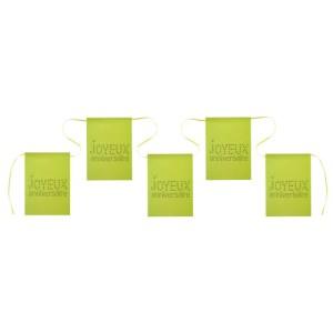 Banderole joyeux anniversaire vert