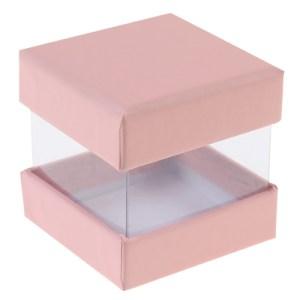 Boite cube rose