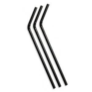 Paille flexible noire