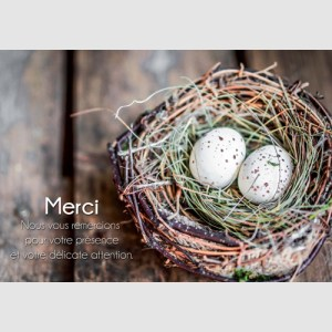 Remerciement nid