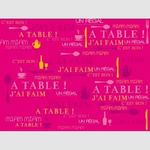 Set de table miam fuchsia