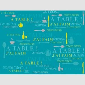 Set de table miam turquoise