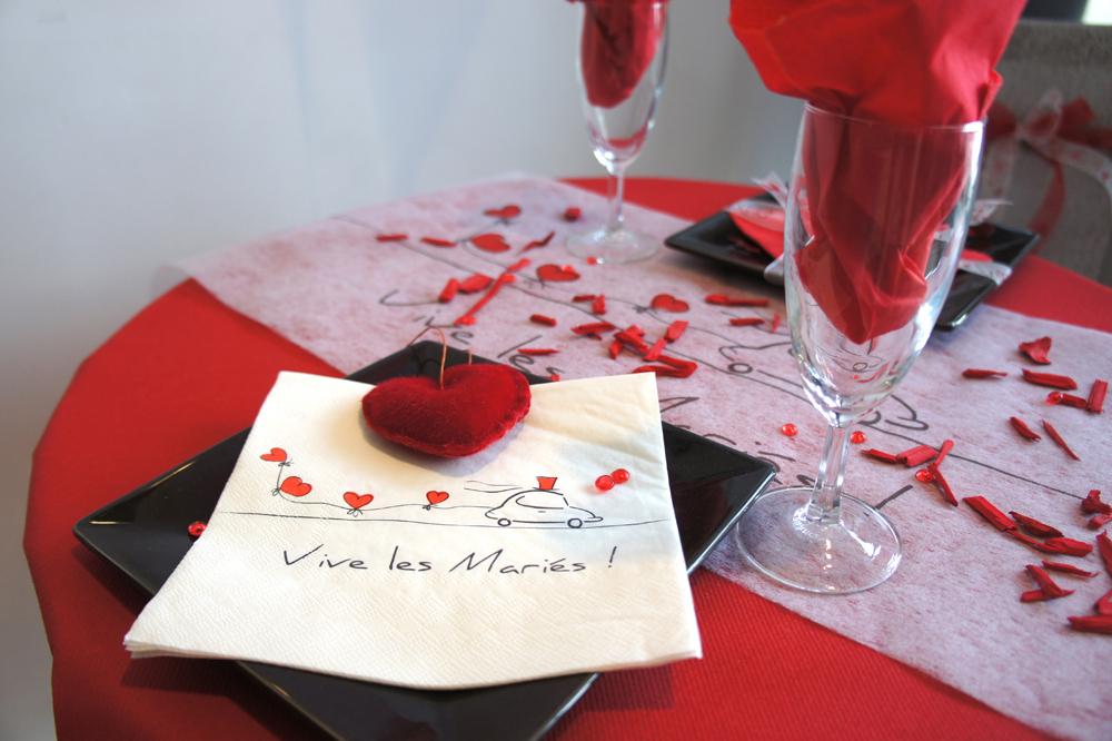 Mariage rouge et blanc