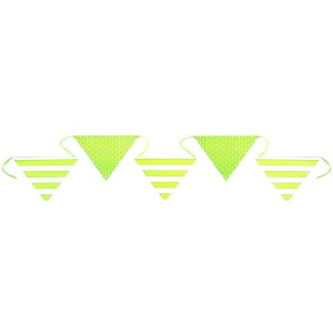 Banderole rayure et pois - vert