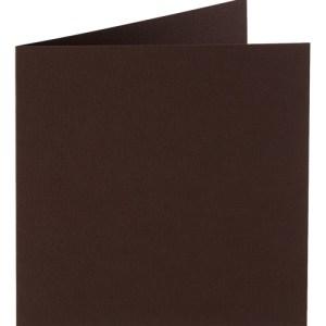 Papicolor carte double 140 x 140 - brun foncé