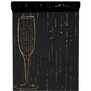 Chemin de table champagne - noir
