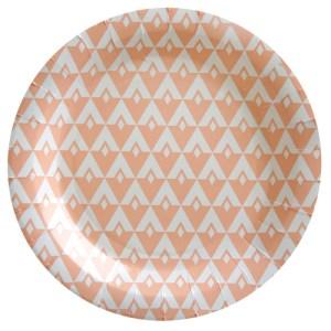 Assiette géométrique - corail
