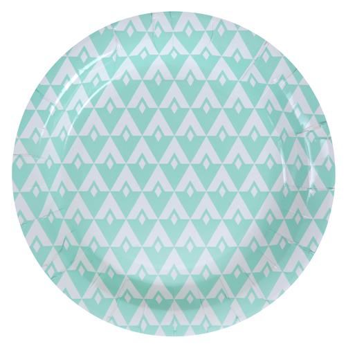 Assiette géométrique - jade