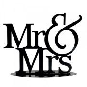 Mr et Mrs décoration métal - noir