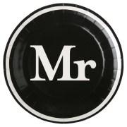 Assiette Mr - noir
