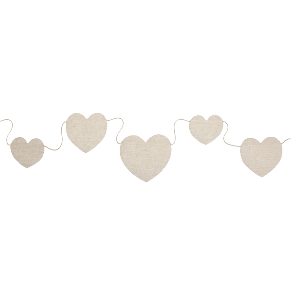 Banderole coeur - naturel