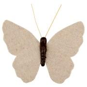 Papillon sur pince - naturel