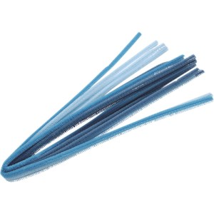 Chenille assortiment 50cm - bleu