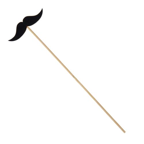 Moustache sur tige - noir