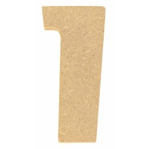 Chiffre en bois 5 cm - 1