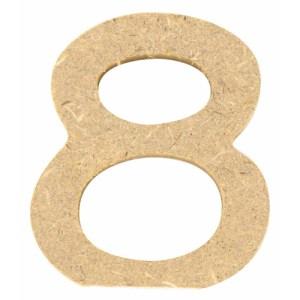Chiffre en bois 5 cm - 8