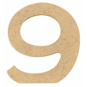 Chiffre en bois 5 cm - 9