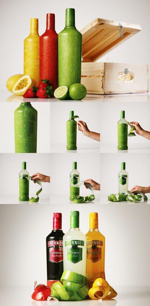 14. smirnoff peelable bottle