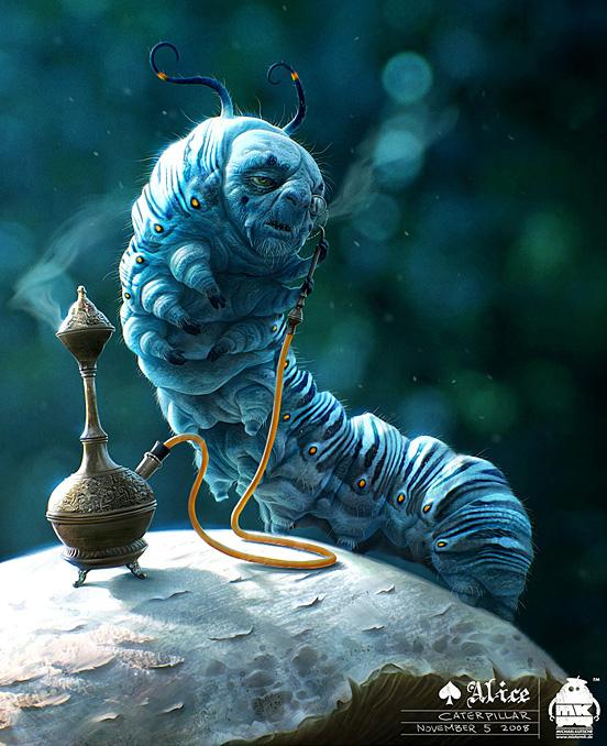 Alice Caterpillar 55 Captivating Examples of Illustration Art