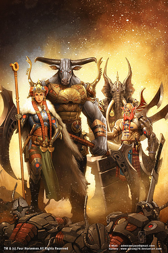Four Horsemen 55 Captivating Examples of Illustration Art