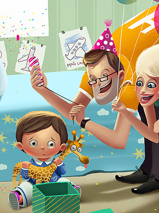 family day 55 Captivating Examples of Illustration Art