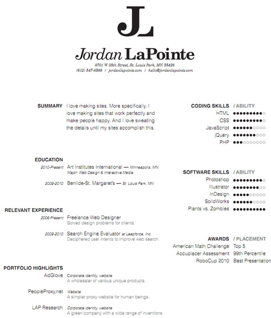 Really Good Resume Examples. Really Mean And Example Of A Work