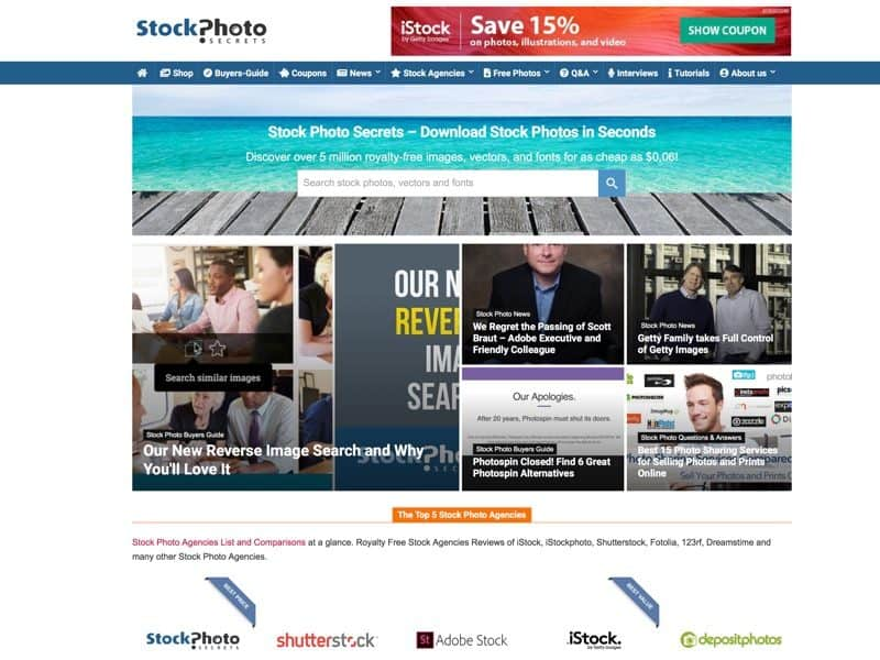 Discover where to buy Stock Photos and what are the Best Stock Photo Agencies and save money with our Stock Images Offers.