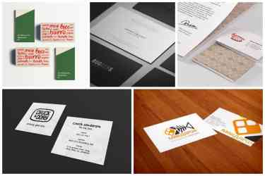 Creative Restaurant Business Card Designs