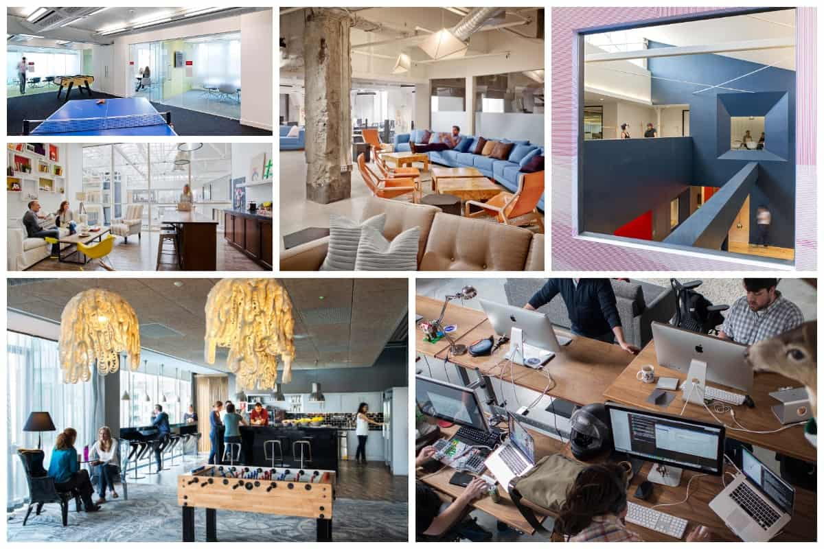 12 Stylish Offices Of Famous Companies