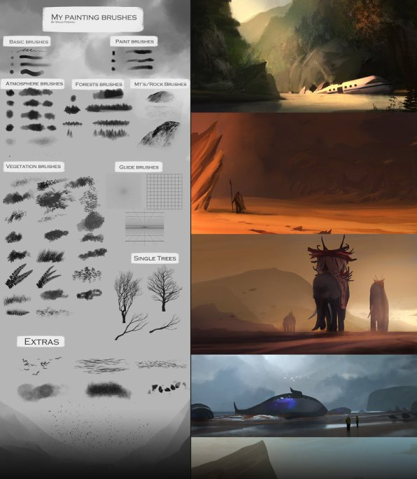 60 Custom Concept Art Brushes