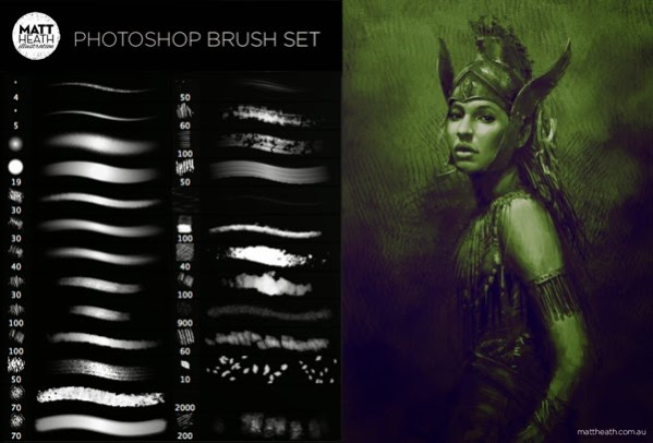 Photoshop Brushes by Matt Heath