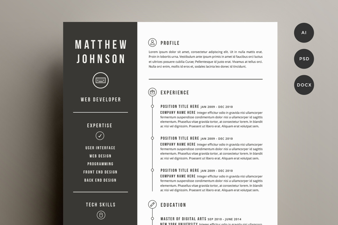 creative word resume templates free newsound co