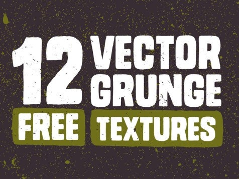 12 Free Vector Grunge Textures by Chris Spooner
