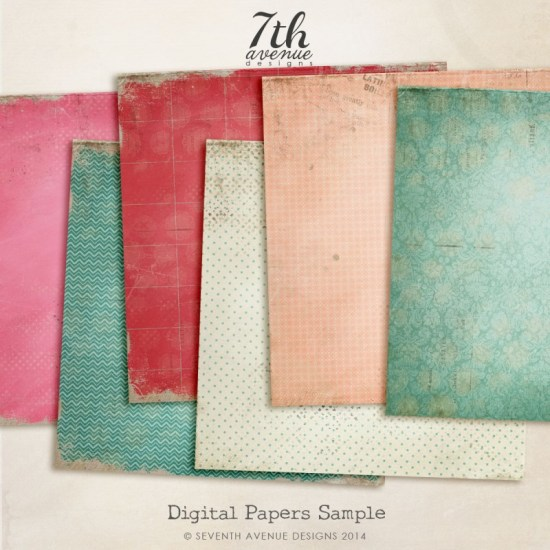 6 Free Digital Papers:Textures