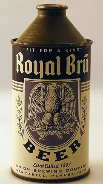 Royal Bru High Profile Beer Can from Union Brewing Company