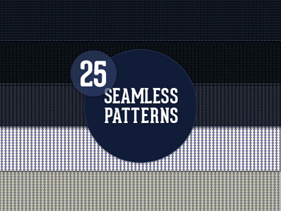 25 Seamless Website Patterns by Wassim