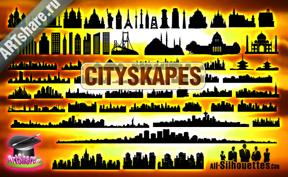 78 Vector Cityscapes