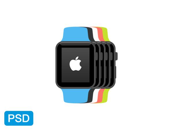 Apple Watch Flat Mockup by Yigit Pinarbasi