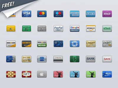 Credit Card Icon pack by Louis Harboe